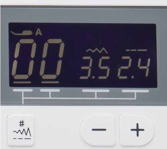 Janome MOD-30 LCD display