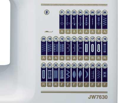janome jw7630 basic sewing machine