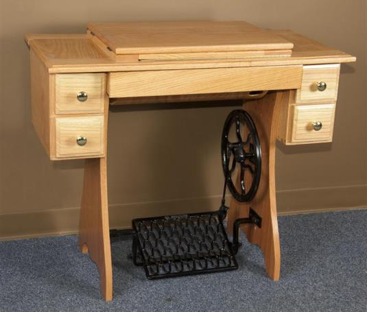 Treadle cabinet for sewing machine